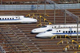 大井車両基地の東海道新幹線の写真素材 [FYI04077400]