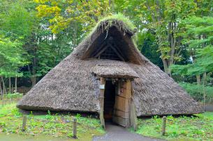 縄文の村 竪穴式住居の写真素材 [FYI04077443]
