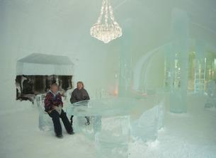 ユッカスヤルビのアイスホテル スウェーデンの写真素材 [FYI04077488]