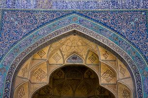 ジャーメモスクの装飾タイルの写真素材 [FYI04077641]