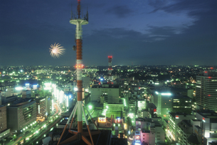 横浜の夜景の写真素材 [FYI04077819]