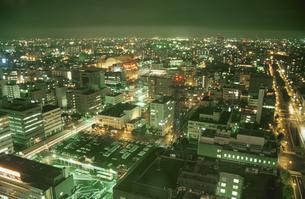 札幌市街の夜景の写真素材 [FYI04077849]