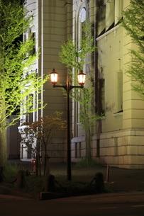 日本銀行旧小樽支店金融資料館のライトアップの写真素材 [FYI04077924]