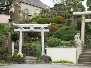 富士塚 下練馬富士の写真素材 [FYI04078234]