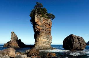 岩手県 三王岩 -海岸の侵食地形-の写真素材 [FYI04078313]