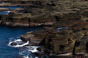 五島列島 嵯峨ノ島の玄武岩火砕岩の写真素材 [FYI04078329]