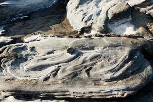 竜串海岸 地層の堆積構造の写真素材 [FYI04078330]