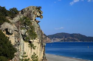 獅子巌 海食地形の一例の写真素材 [FYI04078342]