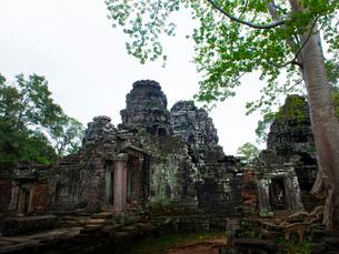 カンボジア シェムリアップ バンテアイ・クディの写真素材 [FYI04078438]