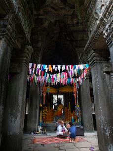 カンボジア シェムリアップ バンテアイ・クディの写真素材 [FYI04078441]