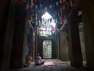 カンボジア シェムリアップ バンテアイ・クディの写真素材 [FYI04078443]