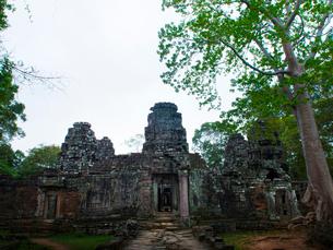 カンボジア シェムリアップ バンテアイ・クディの写真素材 [FYI04078445]