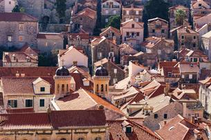 ドブロヴニク旧市街地の眺めの写真素材 [FYI04078501]