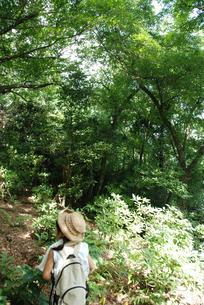 ハイキングをする女の子の写真素材 [FYI04078867]