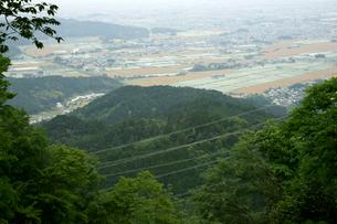 菩提山城址 本郭より南東・垂井町岩手方面を見るの写真素材 [FYI04079019]