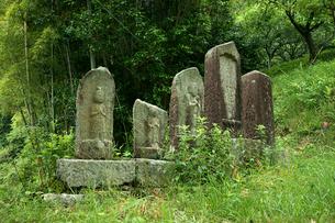中山道 十三峠・寺坂の石仏群の写真素材 [FYI04079036]