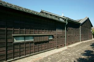 堀田家住宅 下見板張の板壁の写真素材 [FYI04079085]