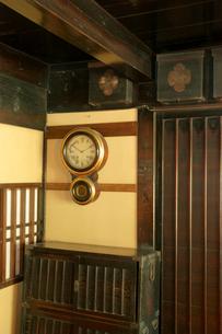 堀田家住宅 みせ座敷の古時計の写真素材 [FYI04079089]
