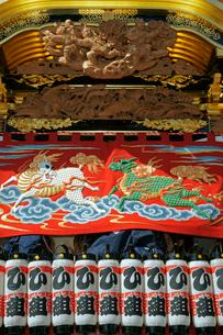 掛塚祭り 東町屋台の前幕 貴船神社 10月第3土日曜日の写真素材 [FYI04079090]