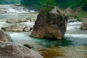 鳳来峡・板敷川(別称)宇連川 たち岩 の写真素材 [FYI04079162]