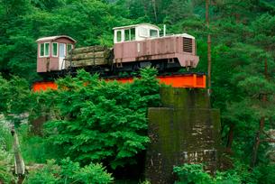 森林鉄道モニュメント 夕森公園の写真素材 [FYI04079173]