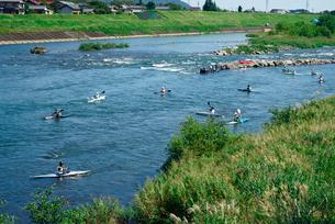 カヌー競技,揖斐川の写真素材 [FYI04079217]