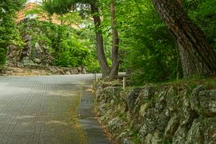 小倉山城 二之丸 西南櫓の石垣 西面の写真素材 [FYI04079516]