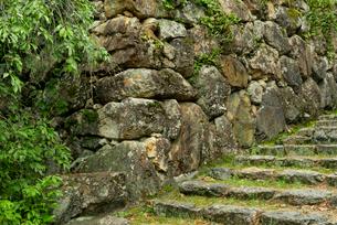 小倉山城 本丸の石垣 左側の写真素材 [FYI04079519]