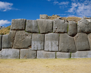 サクサワマン遺跡 石壁の写真素材 [FYI04079583]