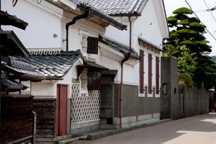 五個荘 近江商人屋敷の家並みの写真素材 [FYI04079705]