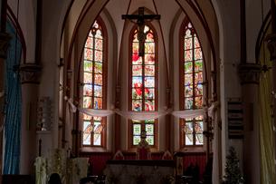 ロメ大聖堂 ステンドグラスの写真素材 [FYI04079770]