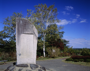 渋民公園啄木歌碑の写真素材 [FYI04080782]