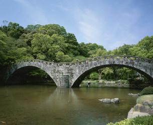 諌早城跡の眼鏡橋の写真素材 [FYI04081107]