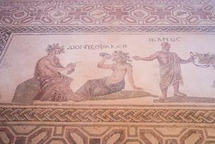 カトパフォス遺跡のイカリオスとディオニソスの写真素材 [FYI04081232]
