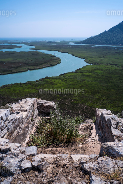 カウノス遺跡のアポロンの聖所の写真素材 [FYI04081275]