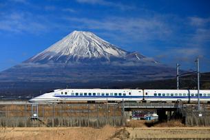 新幹線と富士山の写真素材 [FYI04082171]