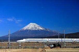 新幹線と富士山の写真素材 [FYI04082176]