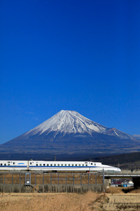 新幹線と富士山の写真素材 [FYI04082182]