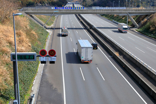 新東名高速 最高速度120km標識の写真素材 [FYI04082216]