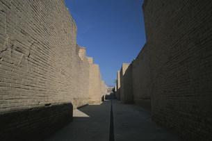 バビロン遺跡 大通りの壁面の彫刻の写真素材 [FYI04082728]