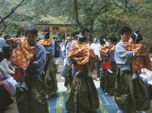 湯登神事の本宮祭りの写真素材 [FYI04082877]
