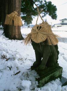 平沢の奉納されたヤマハゲの面の写真素材 [FYI04082950]