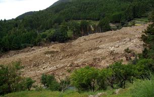 金山集落(2011年台風12号による土石流:被災後)の写真素材 [FYI04082967]