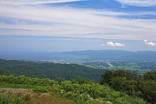 両津湾と加茂湖の写真素材 [FYI04083047]