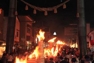 吉田の火祭りの写真素材 [FYI04083077]