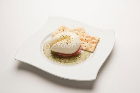 カプレーゼ チーズ クラッカーの写真素材 [FYI04083423]
