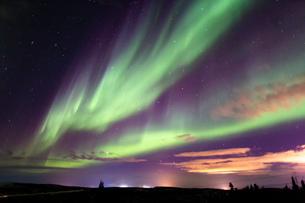 アラスカ フェアバンクスのオーロラの写真素材 [FYI04083583]