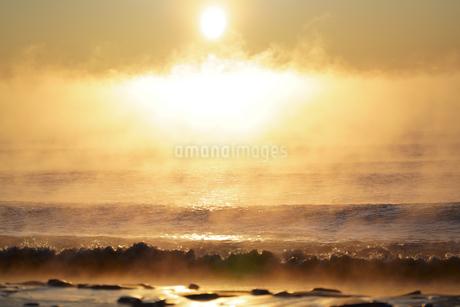 毛嵐の朝の写真素材 [FYI04083701]