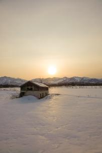 冬の十勝の写真素材 [FYI04083707]