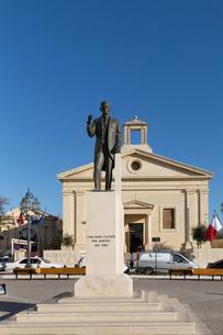 マルタ証券取引所とオリヴァー記念碑の写真素材 [FYI04084189]